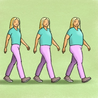 Weight Gain in Middle Age: The Problems Artwork