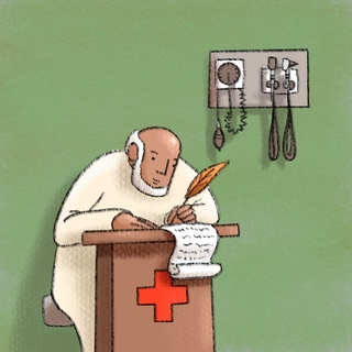 Scribes in Health Care Artwork